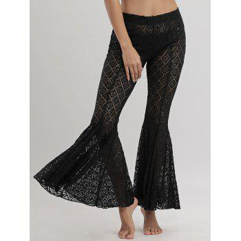 Lace Cover Up Flare Pants - XL XL