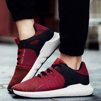 Pinstripe Breathable Athletic Shoes - RED RED