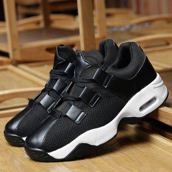 Mesh Air Cushion Breathable Athletic Shoes - BLACK BLACK