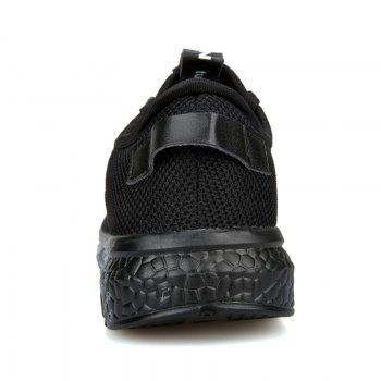 Letter Print Sole Low-top Mesh Athletic Shoes - BLACK GREY BLACK GREY