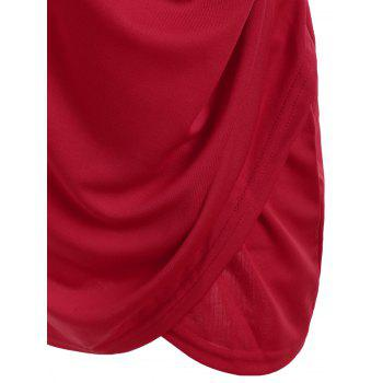V Neck Sleeveless Cut Out Mini Club Dress - RED M
