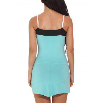 Color Block Cami Bodycon Mini-robe - Vert S