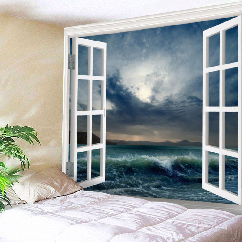 Window Sea Wave Print Tapestry Wall Hanging Art sea of clouds print tapestry wall hanging art