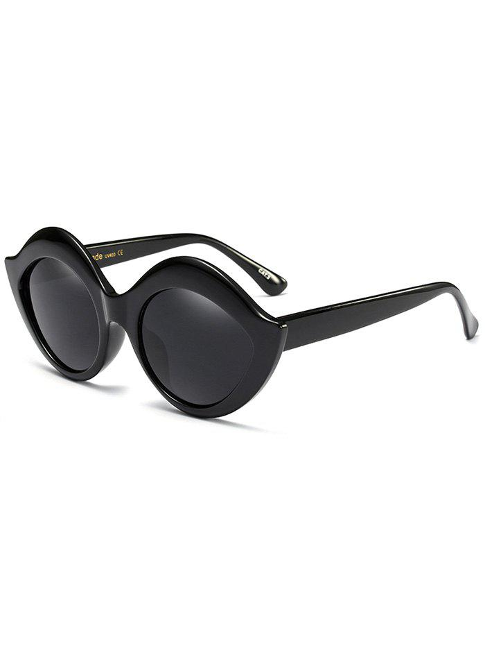 Lip Design Street Snap Anti UV Sunglasses - BLACK