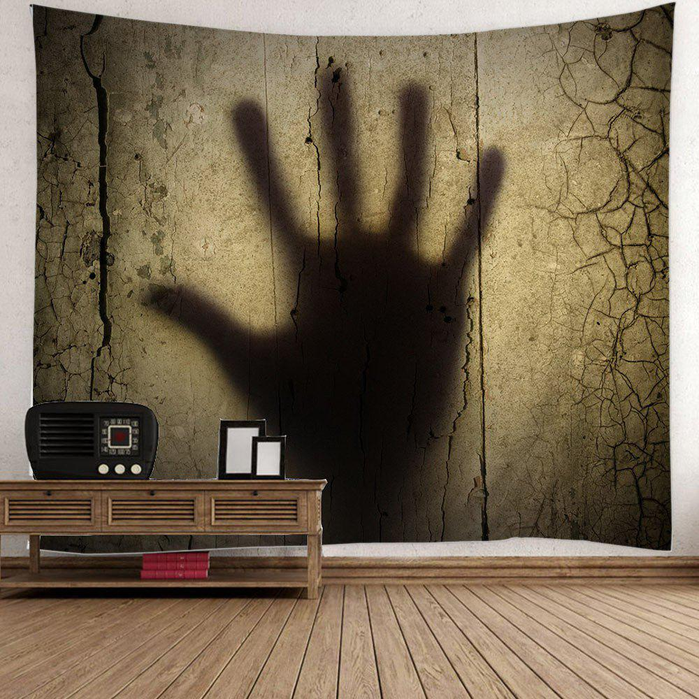 Halloween Gloomy Palm Shadow Print Wall Hanging Tapestry - COLORMIX W59 INCH * L59 INCH