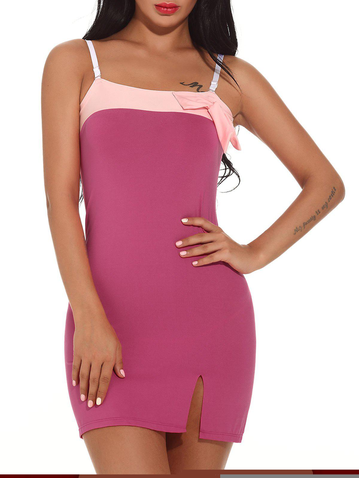 Color Block Cami Bodycon Mini-robe - Frutti de Tutti XL