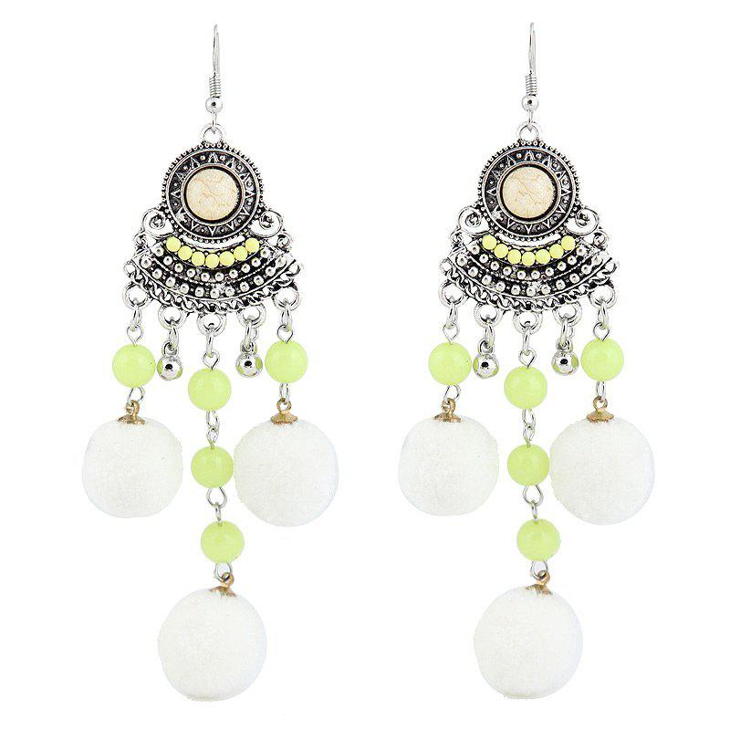 Beads Fuzzy Ball Hook Chandelier Earrings 5pcs 304 stainless steel wave beads positioning beads marbles boyjazz ball screws tight spring ball plunger m5 12mm cpc182