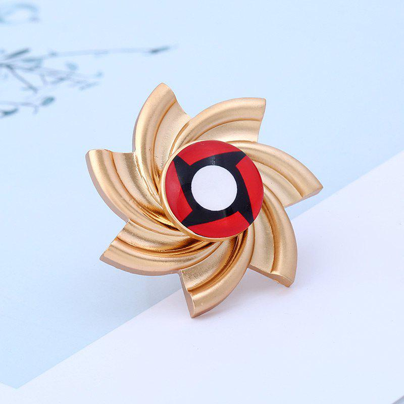 Pinwheel Shape Fidget Spinner Adjustable Finger Ring - GOLDEN