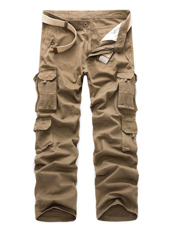 Zip Fly Straight Cargo Pants with Pockets шкатулки для украшений champ collection ch 20077 3