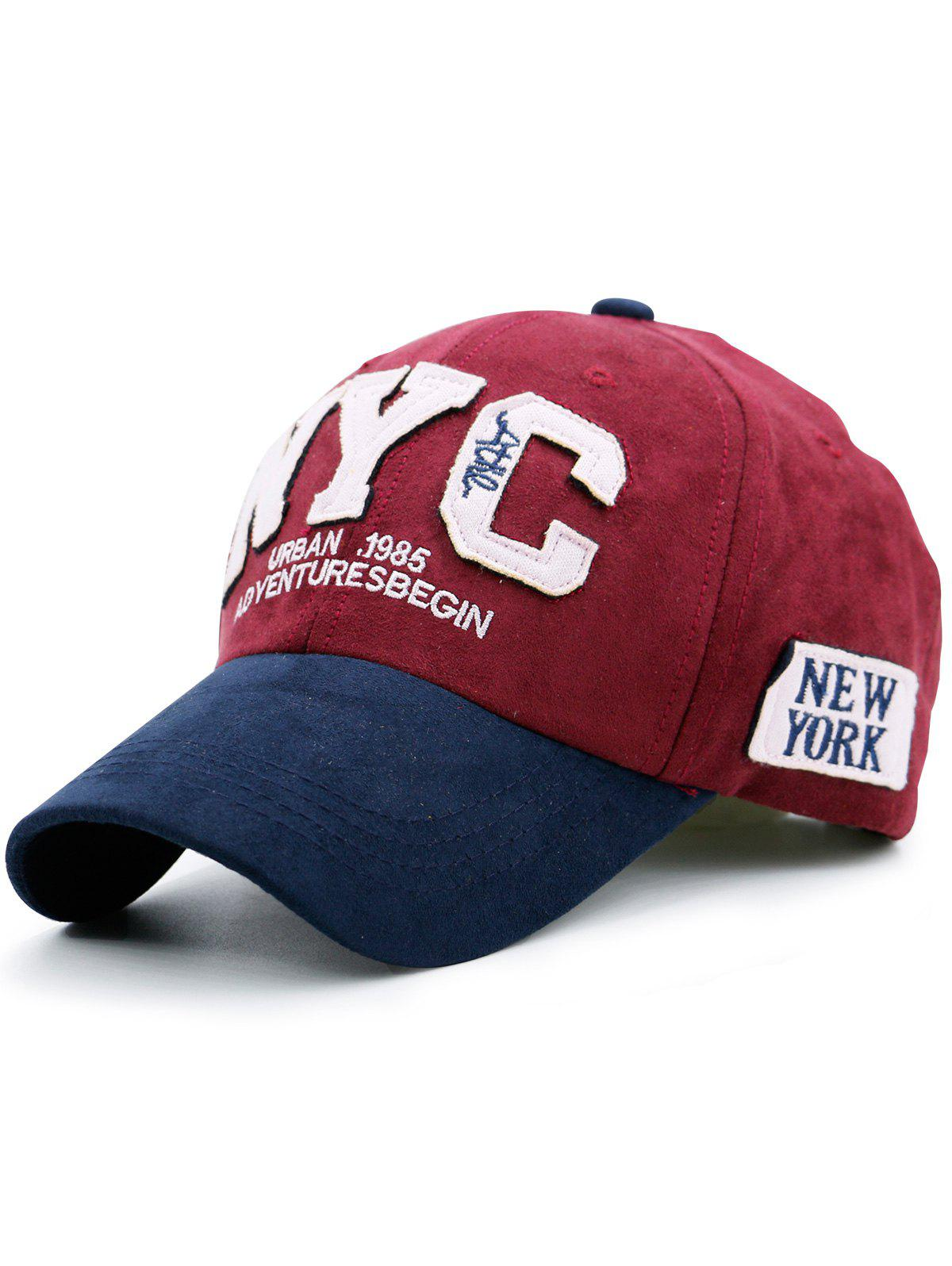 Chapeau de baseball de couleur Block NYC - Rouge
