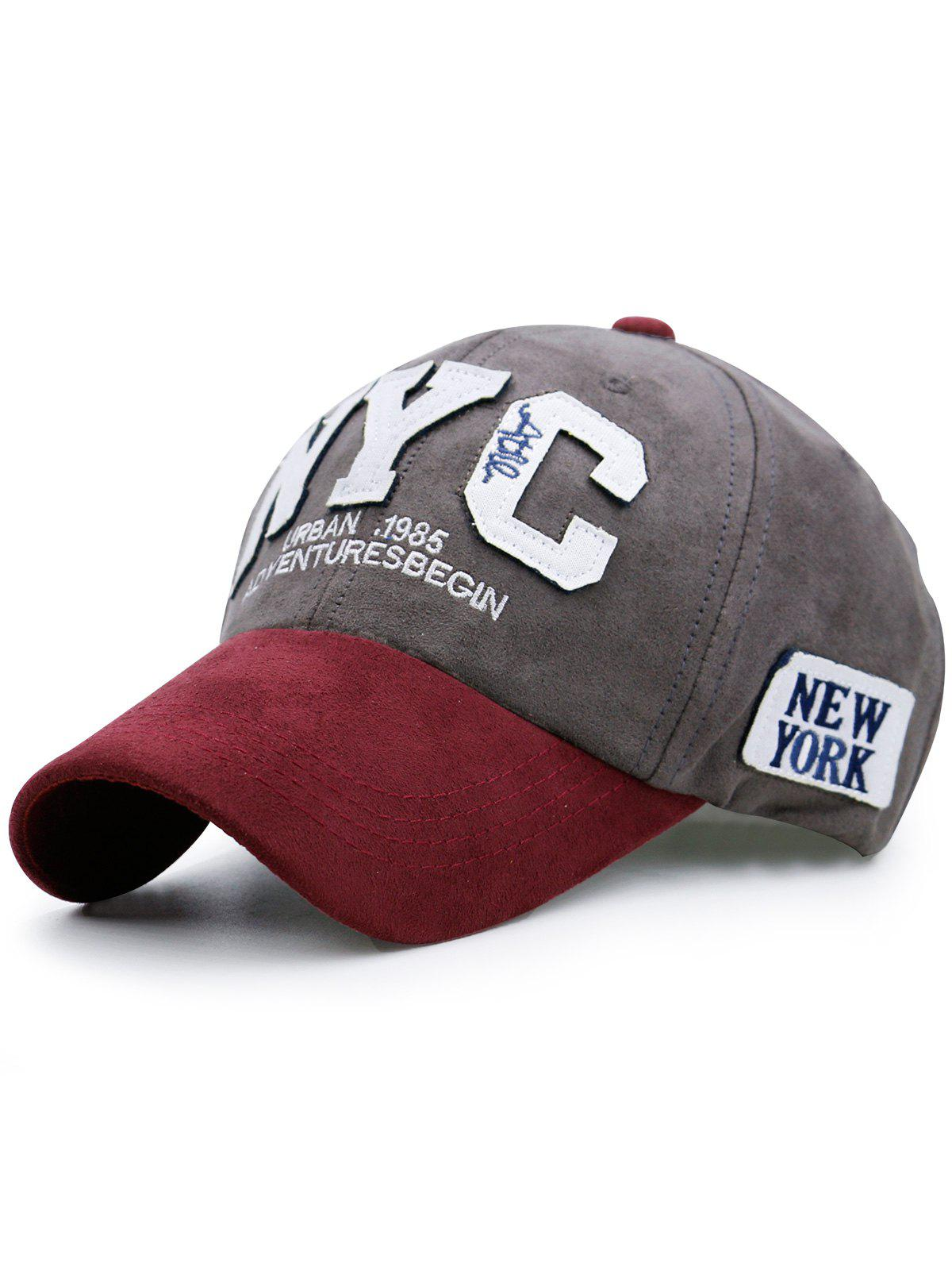 Chapeau de baseball de couleur Block NYC - Gris