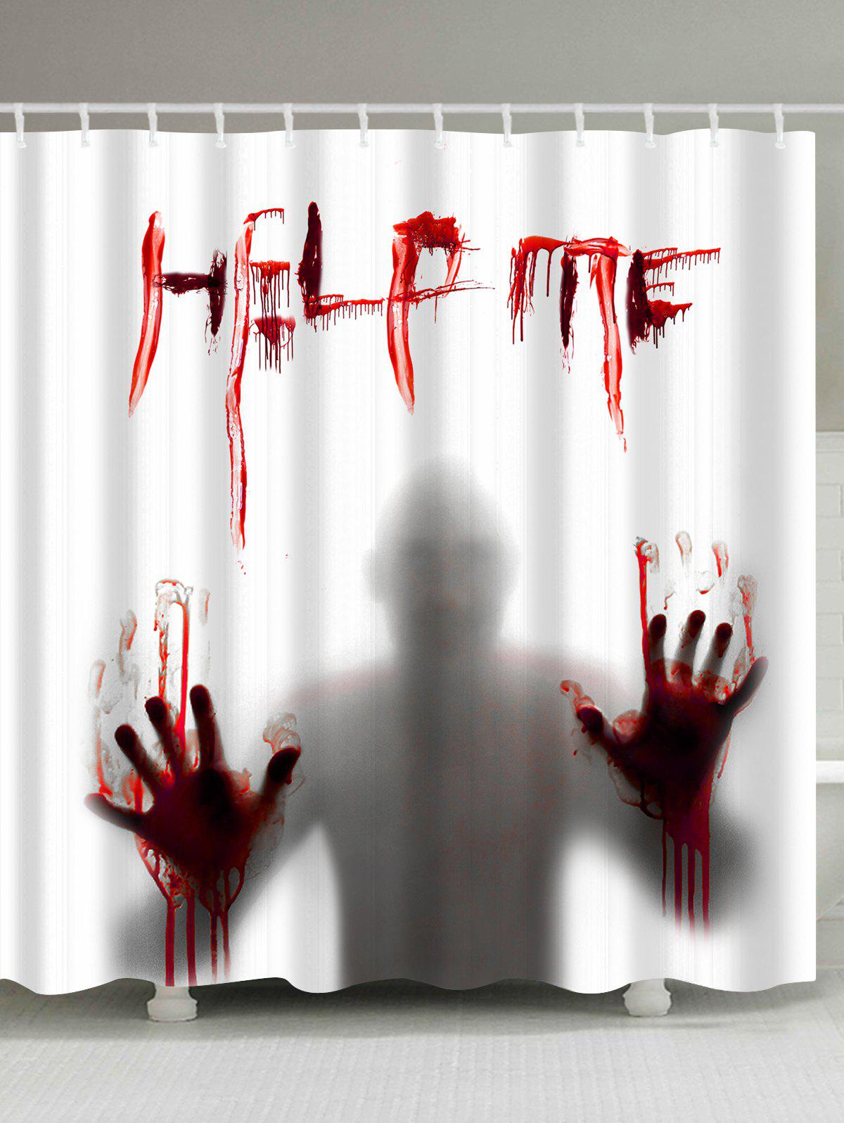 Gothic Help Me Shadow Halloween Decor Shower Curtain