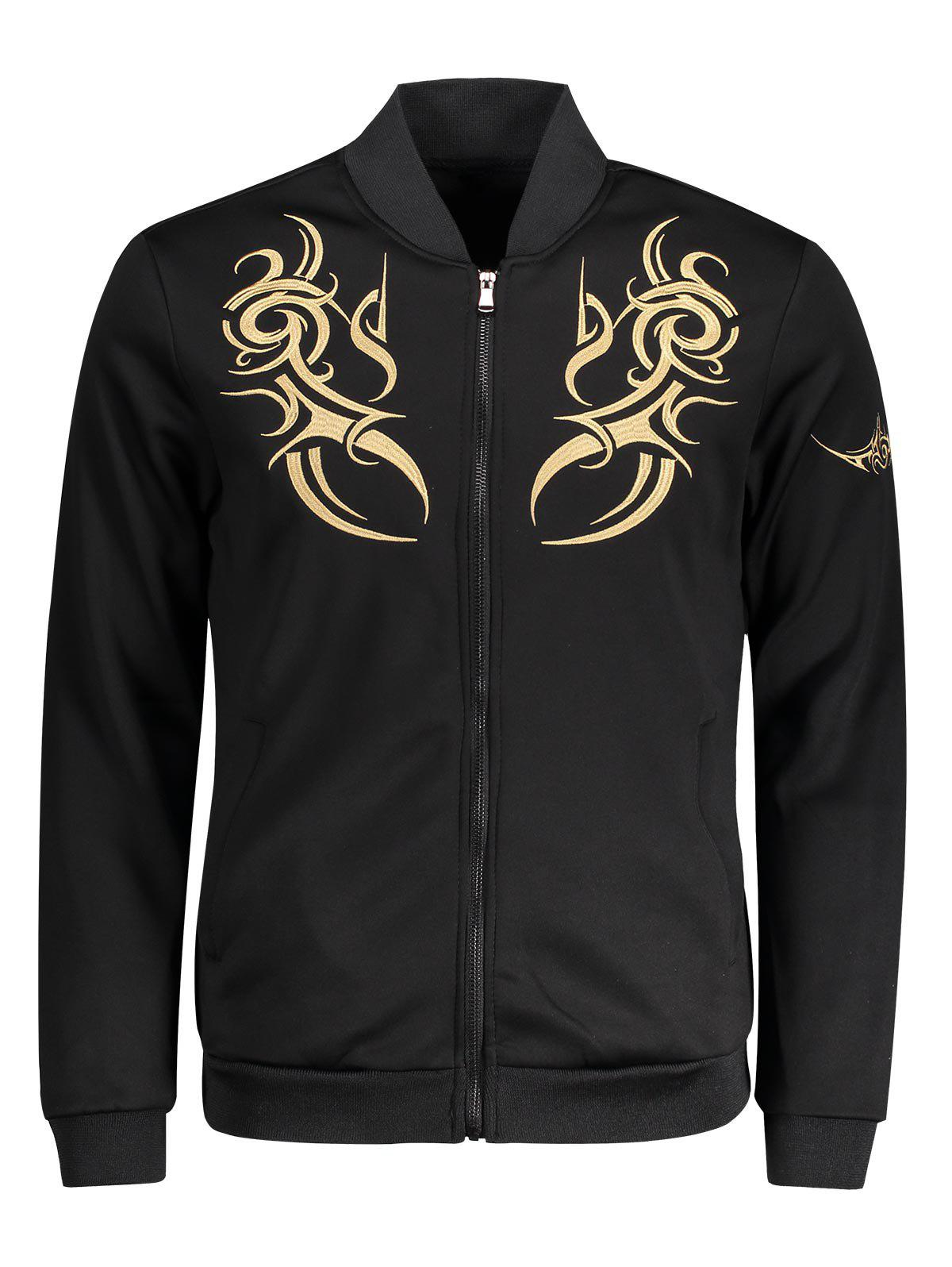 Zip Up Embroidered Mens Jacket sequin embroidered zip up jacket page 3