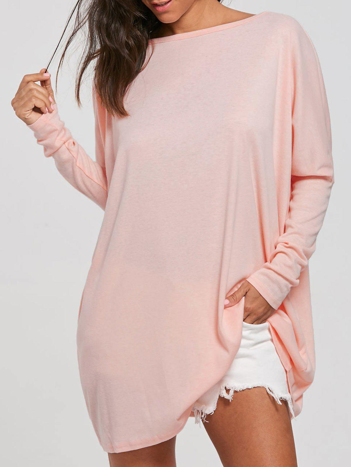 Top de tunique à manches batwing - ROSE PÂLE S