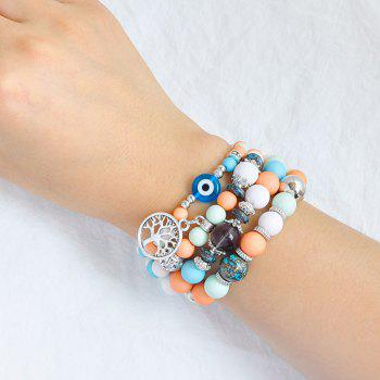 Tree of Life Charm Beaded Bracelets - BLUE