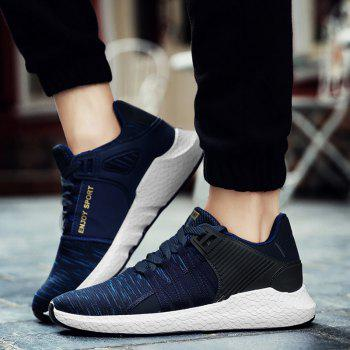 Pinstripe Breathable Athletic Shoes - DEEP BLUE DEEP BLUE