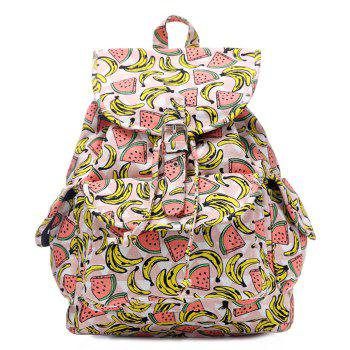 Fruit Printed Canvas Backpack