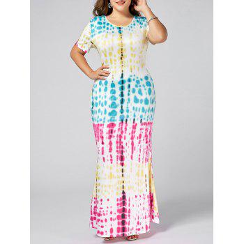 Plus Size Colored Ombre Long Bodycon Dress
