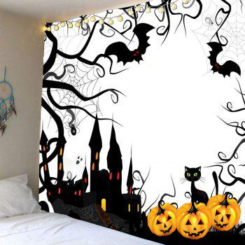 Pumpkin Castle Halloween Waterproof Wall Tapestry