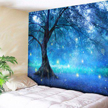 Life Tree Forest Printed Wall Hanging Tapestry