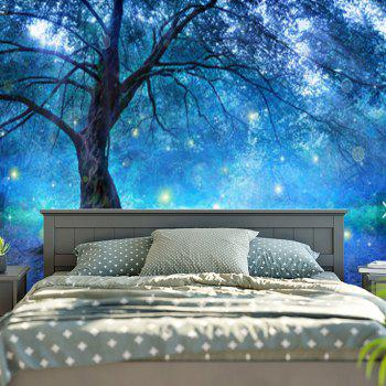 Life Tree Forest Printed Wall Hanging Tapestry - BLUE W79 INCH * L59 INCH