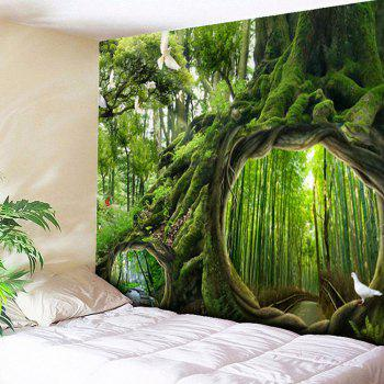 Wall Hanging Forest Life Tree Pattern Tapestry