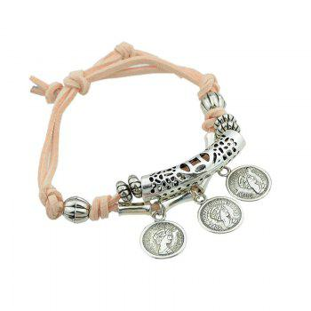 Ensemble de bracelets en forme de perle aux oeillets - Orange