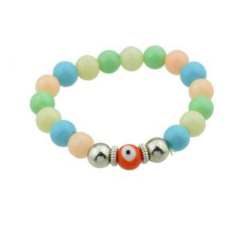 Eye Coin Beaded Charm Bracelet Set -  COLORMIX