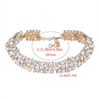 Collier miroir en alliage strass papillon - Or