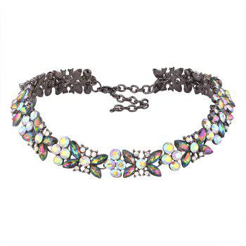 Alloy Rhinestone Butterfly Sparkly Necklace