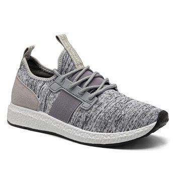 Elastic Band Breathable Tie Up Casual Shoes