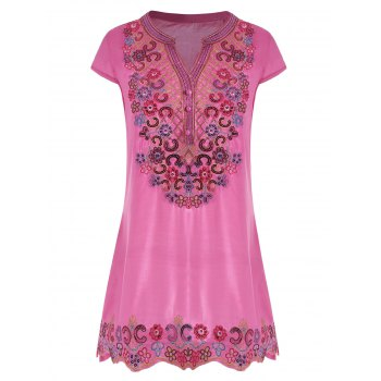 Sequin Embroidered Plus Size Tunic Top