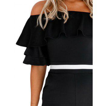 Ruffle Off The Shoulder Romper - S S