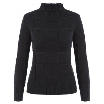 High Neck Long Sleeves Knitted Sweater