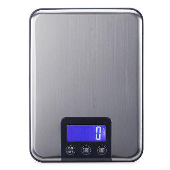 High Precision Mini Digital Kitchen Electronic Scale - SILVER 22.5*16.5*1.7CM(15KG/1G)