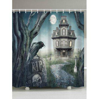 Halloween Mystery Castle Mouldproof Shower Curtain