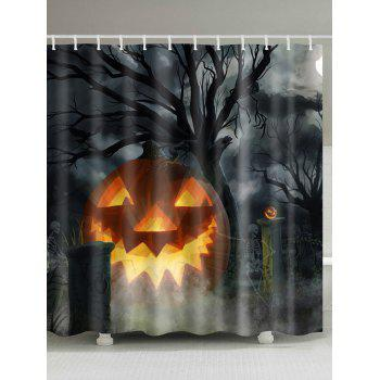 Water Resistant Halloween Theme Shower Curtain