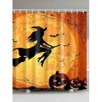 Eco-Friendly Fabric Halloween Witch Shower Curtain