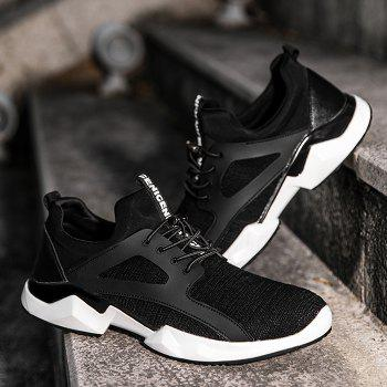 String Breathable Stretch Fabric Athletic Shoes - BLACK 42