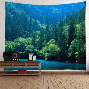 Lake Forest Print Tapestry Wall Hanging Art - Vert W91 INCH * L71 INCH