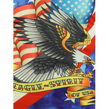 T-shirt à manches courtes Eagle Eagle et American Flag Print - multicolorcolore XL