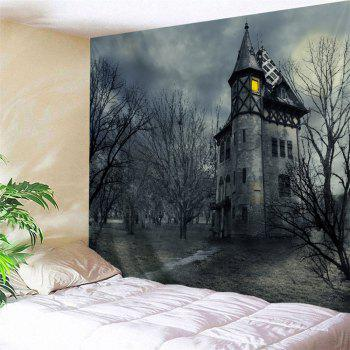 Halloween Castal Print Tapestry Wall Hanging Art