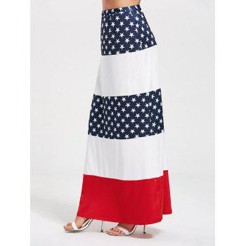 Stars and Stripes Maxi Straight Skirt - M M
