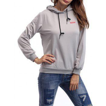Drawstring Patch Graphic Hoodie