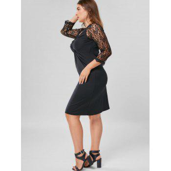 Robe gaine en gomme - Noir 5XL