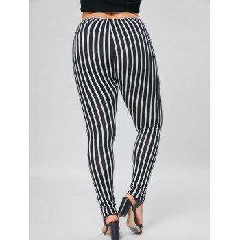 Plus Size Vertical Stripe Skinny Pants - 4XL 4XL