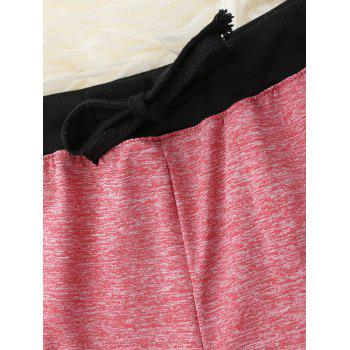 Drawstring Waist Pajama Dolphin Shorts - RED RED