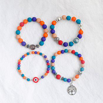 Tree of Life Charm Beaded Bracelets -  COLORMIX