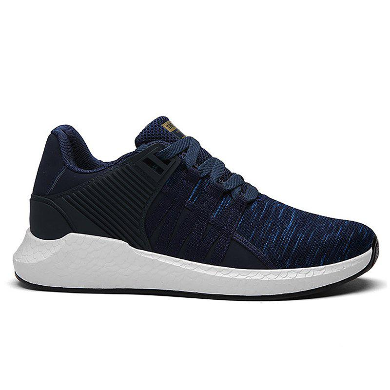 Pinstripe Breathable Athletic Shoes - DEEP BLUE 44