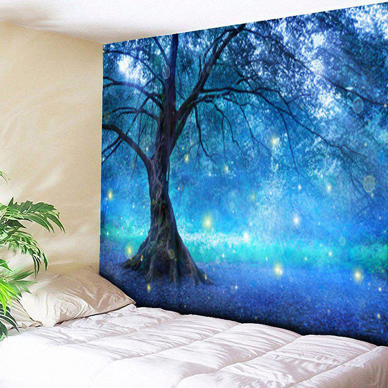 Life Tree Forest Printed Wall Hanging Tapestry fog forest printed wall hanging tapestry